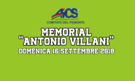 """MEMORIAL """"ANTONIO VILLANI"""" - DOMENICA 16 SETTEMBRE 2018"""