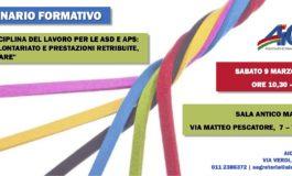 """SEMINARIO: """"LA DISCIPLINA DEL LAVORO PER LE ASD E APS"""""""