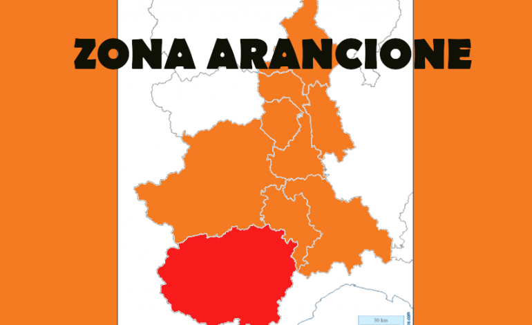 IL PIEMONTE RITORNA IN ZONA ARANCIONE